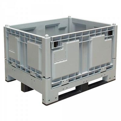 Klappbare Großbox, 1200 x 1000 x 850 mm, 670 Liter, Tragkraft 600 kg, 3 Kufen