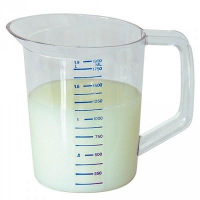 Messbecher aus klarem, bruchfesten Polycarbonat, unzerbrechlich, spülmaschinenfest, schmutzabweisend, Inhalt 3,8 Liter