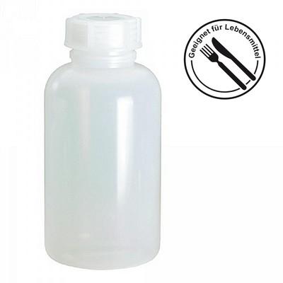 Probenflasche aus PE-LD Kunststoff, lebensmittelecht, chemikalienbeständig - naturweiß, Inhalt 1000 ml
