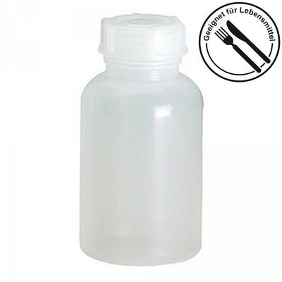 Probenflasche aus PE-LD Kunststoff, lebensmittelecht, chemikalienbeständig - naturweiß, Inhalt 500 ml