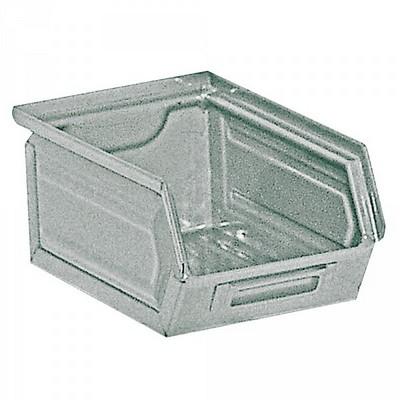Sichtlagerkasten SB7, stapelbar, LxBxH 230/200x140x130 mm, Inhalt 3,5 Liter, Stahlblech/lackiert, feuerverzinkt