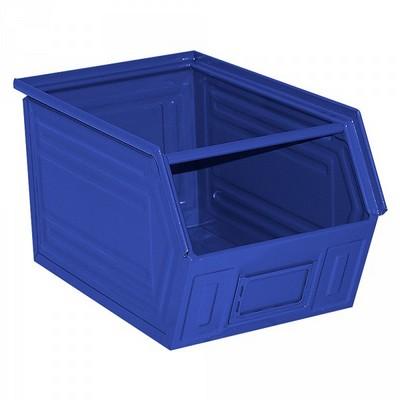 Sichtlagerkasten SB5, stapelbar, LxBxH 350/300x200x200 mm, Inhalt 11 Liter, Stahlblech lackiert/Farbe: blau