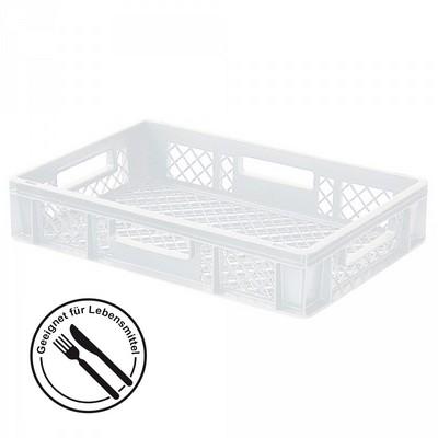 Stapelkorb aus Kunststoff, 600 x 400 x 120 mm, weiß