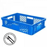 Stapelkorb aus Kunststoff, 600 x 400 x 150 mm, blau