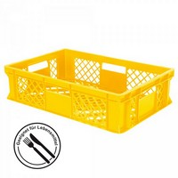 Stapelkorb aus Kunststoff, 600 x 400 x 150 mm, gelb