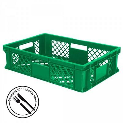 Stapelkorb aus Kunststoff, 600 x 400 x 150 mm, grün