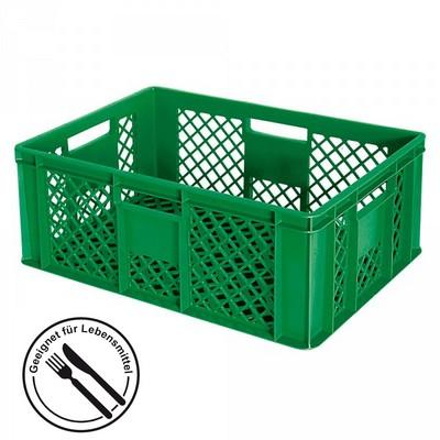 Stapelkorb aus Kunststoff, 600 x 400 x 240 mm, grün