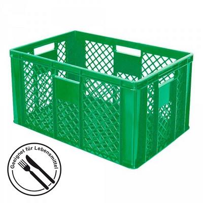 Stapelkorb aus Kunststoff, 600 x 400 x 320 mm, grün