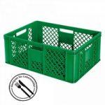 Stapelkorb für Obst u. Gemüse, PE-HD, grün, LxBxH 600 x ..