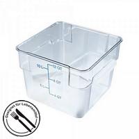 Transparenter Vorratsbehälter 12 Liter für Lebensmittel - LxBxH 280 x 280 x 210 mm