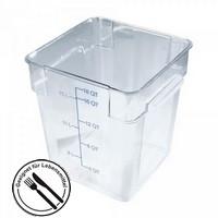 Transparenter Vorratsbehälter 17 Liter für Lebensmittel - LxBxH 280 x 280 x 320 mm