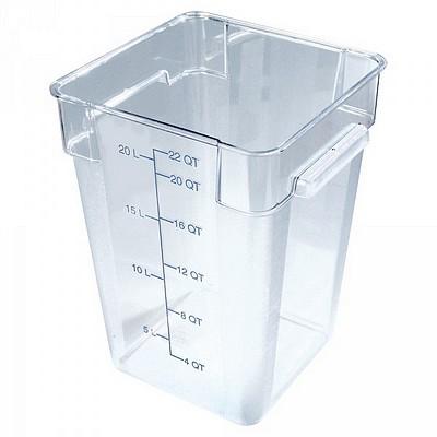 Transparenter Vorratsbehälter 21 Liter für Lebensmittel - LxBxH 280 x 280 x 400 mm