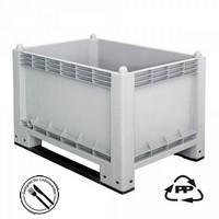 Volumenbox, geschlossen, 1000 x 700 x 790 mm, 300 Liter, Ausf. mit 2 Kufen