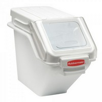 Zutatenbehälter / Vorratsbehälter mit transparentem Deckel, für 16,5kg Mehl oder 23,5kg Zucker + Portionierschaufel gratis