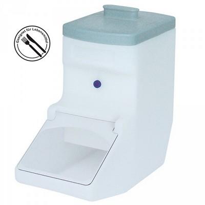 Zutatenbehälter / Zutatenspender, 21 Liter, Entnahmeöffnung , einstellbarer Dosierschieber
