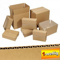 100 Stück Wellpapp Faltkartons, 1-wellig