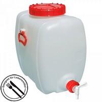 100 Liter Getränkefass, PE-HD Kunststoff, lebensmittelcht, ovale Bauform, mit Auslauf