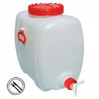 200 Liter Getränkefass, PE-HD Kunststoff, lebensmittelcht, ovale Bauform, mit Auslauf