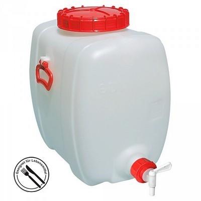 500 Liter Getränkefass, PE-HD Kunststoff, lebensmittelcht, ovale Bauform, mit Auslauf