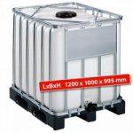 IBC-Container auf Kunststoffpalette, 800 Liter, LxBxH 1200 x 1000 x ..