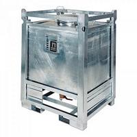 ASF-Behälter 445 Liter, einwandig, Bodenauslauf/Untenentleerung, f. passive Lagerung, UN-Zulassung