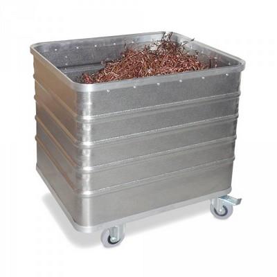 Alu-Kastenwagen, Inhalt 229 Liter, LxBxH 730 x 605 x 732 mm, Tragkraft 200 kg