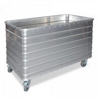 Alu-Kastenwagen, Inhalt 415 Liter, LxBxH 1030 x 670 x 835 mm, Tragkraft 250 kg