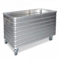 Alu-Kastenwagen, Inhalt 656 Liter, LxBxH 1280 x 730 x 945 mm, Tragkraft 250 kghlossene-ausfuehrung-s