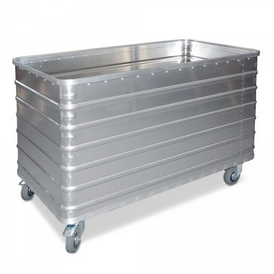 Alu-Kastenwagen, Inhalt 656 Liter, LxBxH 1280 x 730 x 945 mm, Tragkraft 250 kg