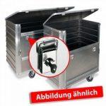 Alu-Kastenwagen, mit Deckel und Schlössern, LxBxH 930 x 530 x ..