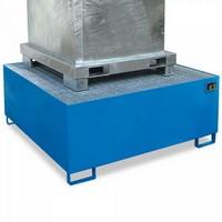Stahl-Auffangwanne für Tankcontainer, IBC-Container, ASF-Behälter, 1460 x 1460 x 620 mm, Auffangvolumen 1.000 Liter