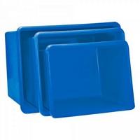 GFK-Behälter, 200 Liter, LxBxH 880 x 570 x 600 mm, blau