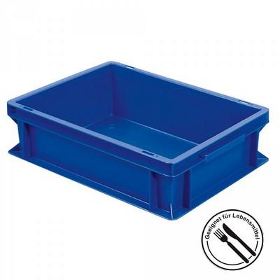 Geschirrbox, Euro-Format LxBxH 400 x 300 x 120 mm, blau