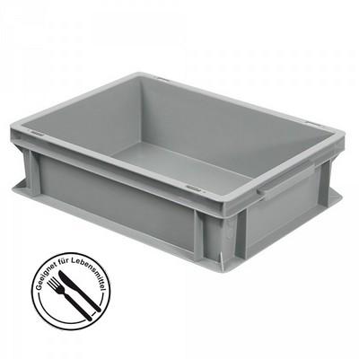 Geschirrbox, Euro-Format LxBxH 400 x 300 x 120 mm, grau
