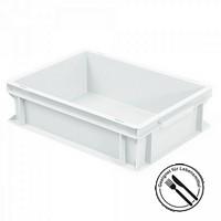 Geschirrbox, Euro-Format LxBxH 400 x 300 x 120 mm, weiß