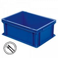 Geschirrbox, Euro-Format LxBxH 400 x 300 x 170 mm, blau