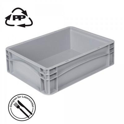 Transportbox für Geschirr, Euro-Format LxBxH 400 x 300 x 120 mm, grau