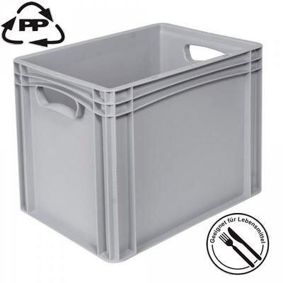 Transportbox für Geschirr, Euro-Format LxBxH 400 x 300 x 320 mm, grau