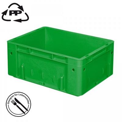 Geschlossener Systembehälter mit 2 Griffleisten, Polypropylen-Kunststoff (PP), Euro-Format LxBxH 400 x 300 x 175 mm, grün