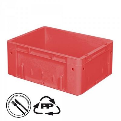 Geschlossener Systembehälter mit 2 Griffleisten, Polypropylen-Kunststoff (PP), Euro-Format LxBxH 400 x 300 x 175 mm, rot
