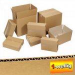 100 Stück Wellpapp Faltkartons, 1-wellig, Innenmaß LxBxH 350 x 350 ..