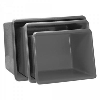 GFK-Behälter, 1100 Liter, LxBxH 1620 x 1190 x 810 mm, grau