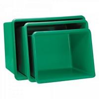 GFK-Behälter, 1100 Liter, LxBxH 1620 x 1190 x 810 mm, grün
