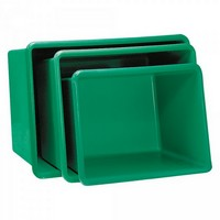 GFK-Behälter, 700 Liter, LxBxH 1320 x 970 x 810 mm, grün